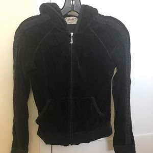 Juicy zip up tuxedo hoodie
